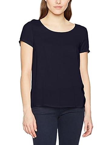 ONLY Damen T-Shirt Onlfirst SS Top Noos Wvn, Blau (Night Sky Night Sky), 36