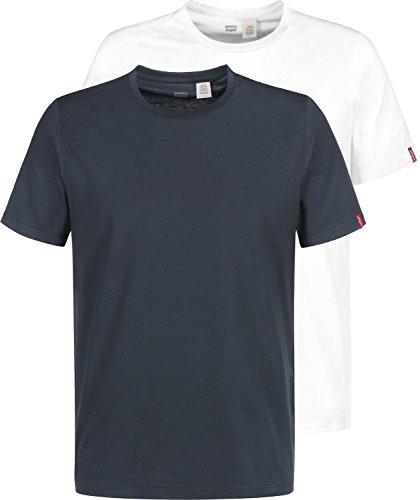 Levi's Slim 2 Pack Crew, Camiseta para Hombre