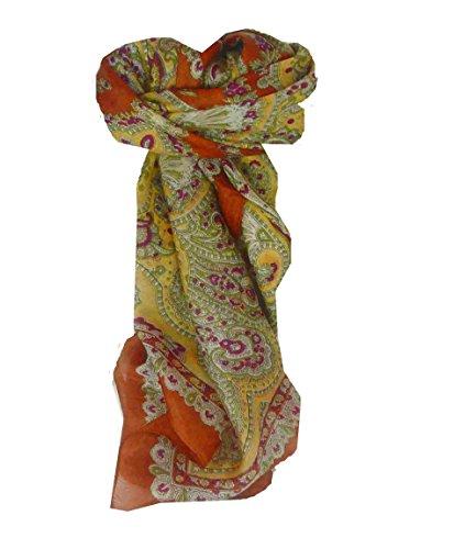 Traditional Maulbeereseide Quadratischer Tuch Madras Gold von Pashmina & Silk Madras Wrap