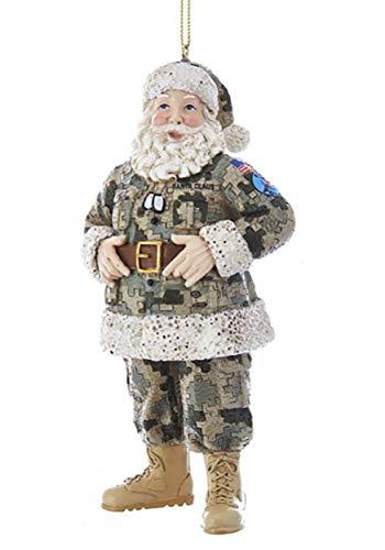 Kurt Adler Camo Military Santa Ornament Standard -