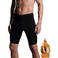 NOVECASA Pantalones Cortos Sauna Hombre Neopreno Sauna Pants Deportivo para Sudoración Culturismo Quema Grasa Adelgazante (3XL, Negro-Negro)