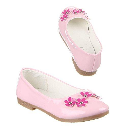 Kinder Schuhe, A10-1, BALLERINAS Rosa