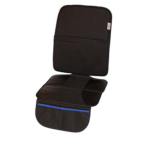 HOCHWERTIG verarbeiteter Sitzschoner – die ideale Kindersitzunterlage für optimalen Autositz Schutz – universelle Sitzauflage in schlichtem Design – der perfekte Schutz für ihr Auto (schwarz)