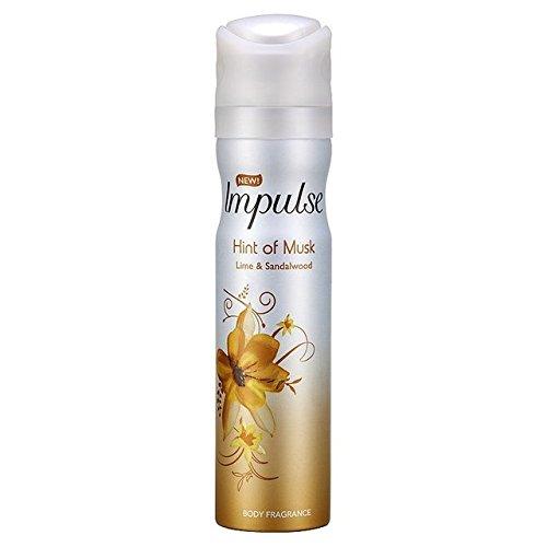 Impulse Hint of Musk Body Spray 75 ml - Pack of 6 (Musk Deodorant Body Spray)