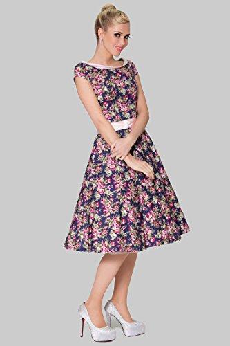 SEXYHER Damen 1950 Vintage Style Delicate Scoop Neck klassische verkleiden - RBJW1606 (UK22) -