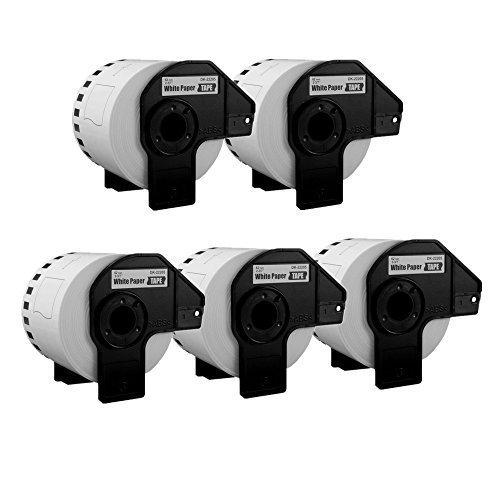 Preisvergleich Produktbild UCI 5x Endlos-Etiketten kompatibel für Brother P-Touch DK-22205 62mm x 30.48m