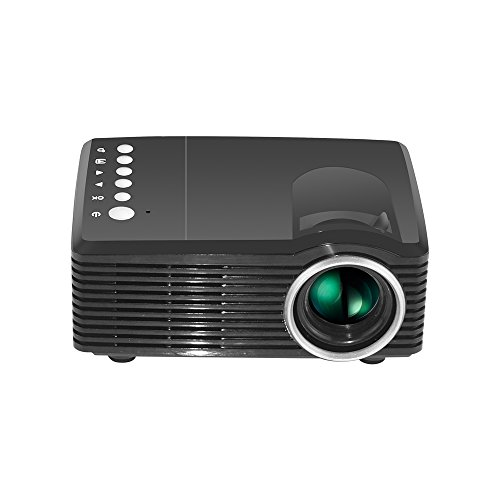 Duoying LED Mini-Projektor (2018 aktualisiert), HD-Videoprojektor, Optische Keystone-Korrektur, 1000 LM, Ideal für Heim-Multimedia-Theater Entertainment-Projektor.