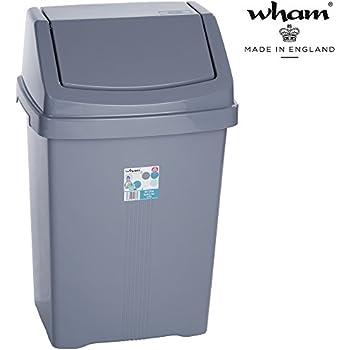 50 Liter Mülleimer mit Schwingdeckel rechteckig robust