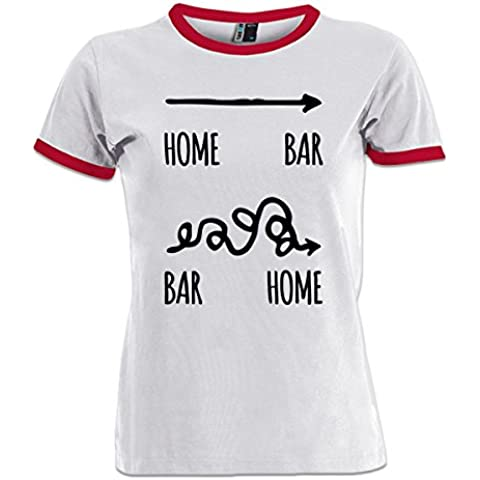 Camiseta contraste de mujer Home Bar Bar Home by Shirtcity