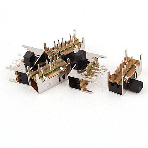 5 PCS 3 Position DP3T 8 Solder Lug Pin PCB Panel Mount Slide Switch (Slide Dimmer Licht)