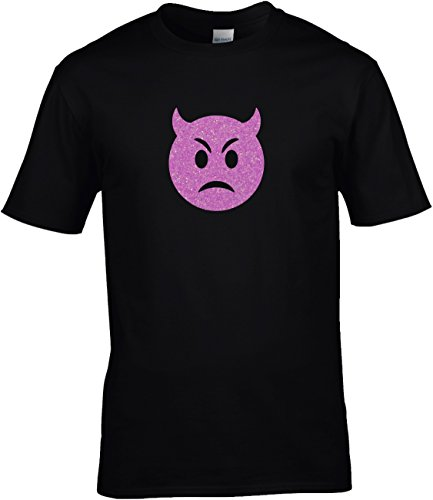 Shirt Karneval Herren Gruppen GLITZERDRUCK Fasching Junggesellenabschied Emoji -