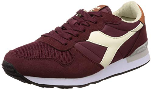 Diadora camaro, sneaker unisex-adulto, multicolore (burgundy/whisper wht/leather c7744), 45 eu