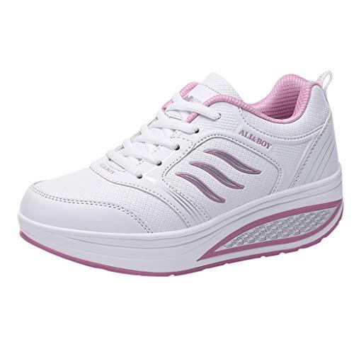 Damen Sneaker Mode Frau Mesh Schuhe erhöhen Espadrilles Segelschuhe Mokassins SchnüRschuhe Stiefel Freizeitschuhe Outdoorschuhe Sandalen Weicher Boden Schaukelschuhe Turnschuhe