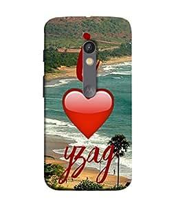 PrintVisa Designer Back Case Cover for Motorola Moto X Play (I love yzag Best Holiday Beach India)