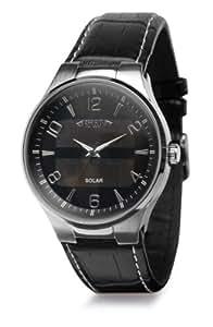 Montre bracelet solaire Reflects, rond (L x l x h) 250 x 42 x 11 mm chrome, noir