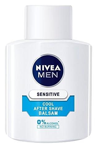NIVEA Men, Kühlender After Shave Balsam für Männer, 1 x 100 ml Flasche, Sensitive Cool, 0%