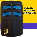 Mando de Garaje Universal HR MULTI 2 compatible con el 95% de mandos...