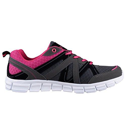 HSM , Chaussures de fitness pour femme gris/rose