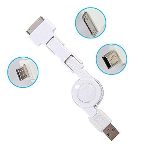 M18 80cm 3in1 Daten- Ladekabel iPod iPhone iPad Samsung BlackBerry HTC ausziehbar (8130 Snap)