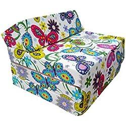 Natalia Spzoo Matelas lit Fauteuil futon Pliable Pliant Choix des Couleurs - Longueur 200 cm (Garden)