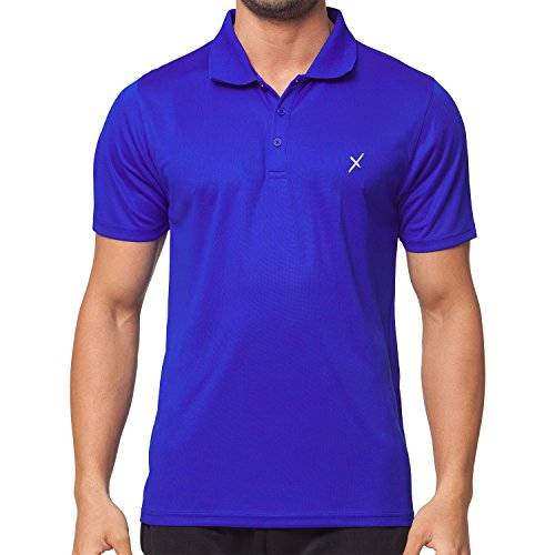CFLEX Men Sportswear Collection - Herren Funktion Sport Kleidung - Fitness Quickdry Polo-Shirt & Hemd Top Fitness Sport Top Royal Größe S