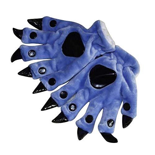 IYHENZ Bekleidung Handschuhe Cute Cat Claw Hund Pfote Muster Fingerlose Strickhandschuhe Armwärmer Winterhandschuhe Niedlich Pfote Plüsch Fingerlose Handschuhe Damenhandschuhe