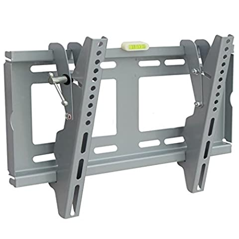 Hansee Universal TV Wall Mount–Silver Ends 1943inch TV Mount for LED LCD Plasma TV HDTV–400x 300mm Extension 110lbs Capacity, Full