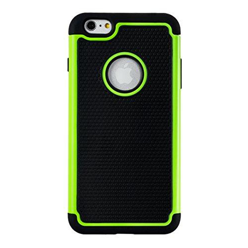 kwmobile Étui hybride Design Uni pour Apple iPhone 6 Plus / 6S Plus en anthracite doré vert noir