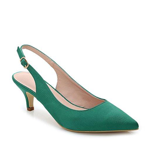 Zapatos de tacón ComeShun para mujeres con agarre al tobillo elegantes para vestido, color verde, talla 42