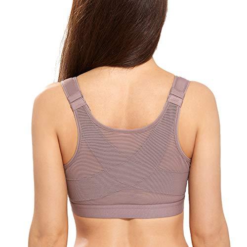 Delimira - Sujetador Corrector de Postura con Soporte de Espalda en X para Mujer Mochaccino ES:105D (EU 90D)