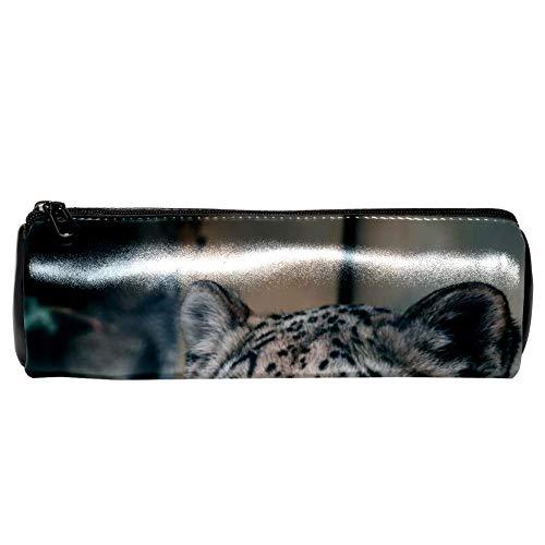 EZIOLY - Estuche piel textura tigre lápices, cosméticos