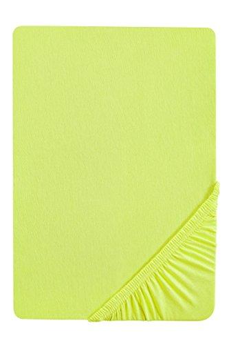 Biberna 77866/001/322 - lenzuola matrimoniali in jersey con angoli elasticizzati 180 x 200 cm - 200 x 220 cm verde mela