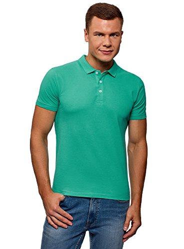 Baumwoll-piqué Khaki (oodji Ultra Herren Pique-Poloshirt, Grün, DE 58-60 / XXL)