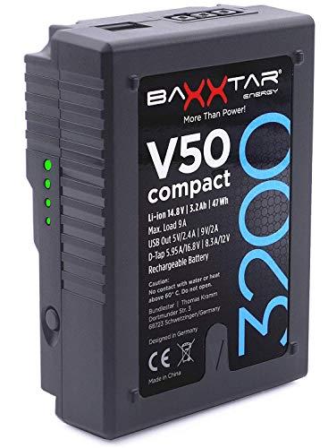 Baxxtar Pro II Batería V-Mount V50 Compact - LG Cells