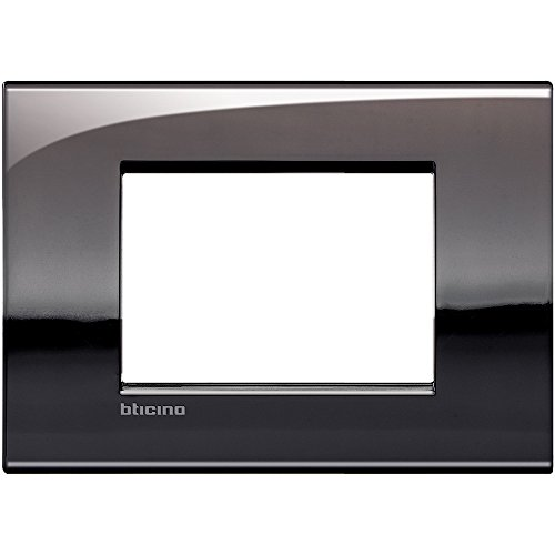 Bticino LNC4803PT Placca Livinglight Air 3 Moduli, Peltro