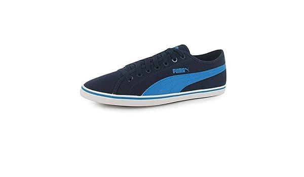 Puma Elsu v2 Canvas Herren Turnschuhe Leinenschuhe Freizeit Sportschuhe  Sneaker Navy Blue 9.5 (44)  Amazon.de  Schuhe   Handtaschen 2afecb6f83