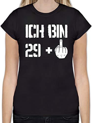 Geburtstag - Ich Bin 29 + - L - Schwarz - L191 - Tailliertes Tshirt für Damen und Frauen T-Shirt