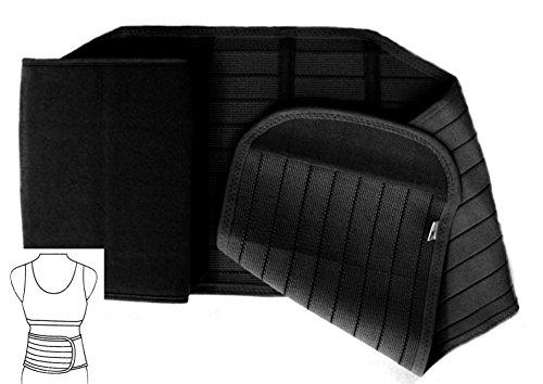 Unbekannt Rückenbandage Rückengurt 4S wählbar bis 140 cm Lang (XL: 105-130 cm, Schwarz)