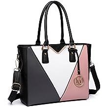 0078d6aab Amazon.es: bolso blanco y negro mujer - 4 estrellas y más