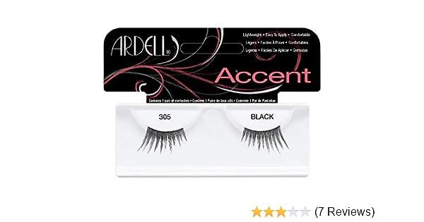 8309820fe00 Ardell Accent Lashes 305 Black: Amazon.co.uk: Beauty