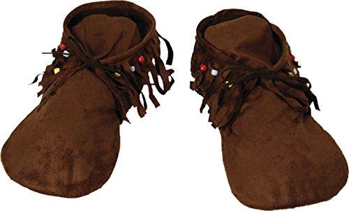 Preisvergleich Produktbild Erwachsene Indianer Verkleidung Kostümparty Herren Hippie-indian Mokassins Slipper