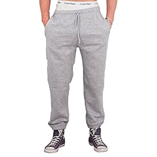 Love My Fashions® Mens Trousers Drawstring Elasticated Cuff Jogging Fleece Bottoms Zip Pockets Close Hem Casual Outwear Sweatpants Size S L 2XL 5XL