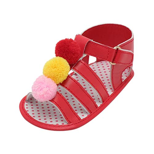 Voberry@ Voberry@ Unisex-Baby Cute Summer Shoes Infant Sandals Ball Strap Soft Sole Anti-Slip First Walker Shoes