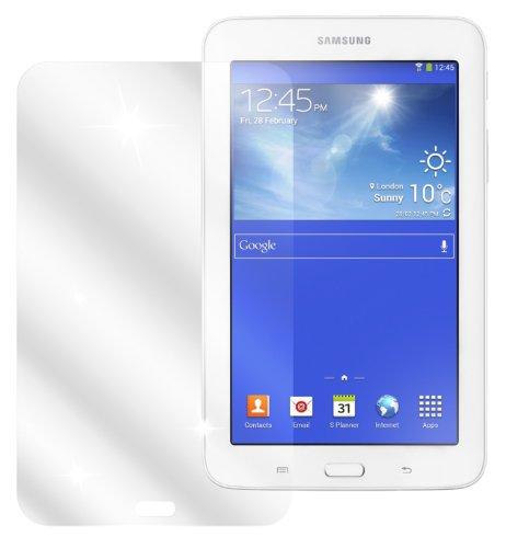 dipos I 2X Schutzfolie klar passend für Samsung Galaxy Tab 3 Lite Folie Bildschirmschutzfolie