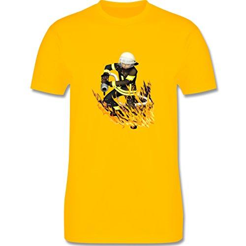 Feuerwehr - Cooler Feuerwehrmann - Herren Premium T-Shirt Gelb