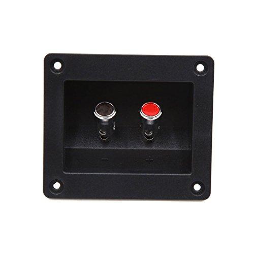 sourcing map 2 Weg Quadrat Post Lautsprecher Box Klemme Tasse Platte Anschluss Board für Auto DE de