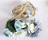 Cinturón de cuerda con flores en tonos azules. Envío GRATIS 72H