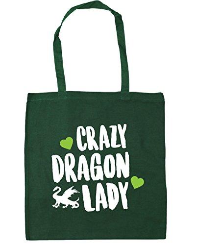 hippowarehouse-bolsa-de-playa-de-algodon-mujer-verde-verde-oscuro-talla-unica
