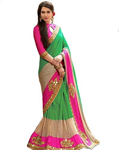 Sarees (Women's Clothing Saree For Women Latest Design Embroidered Wear Sarees New...