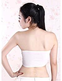 Dojore Plain Black or Cream Petite Women Bandeau Bralet. One Size Small Stretch Boob Tube Top. Strapless Bra Vest
